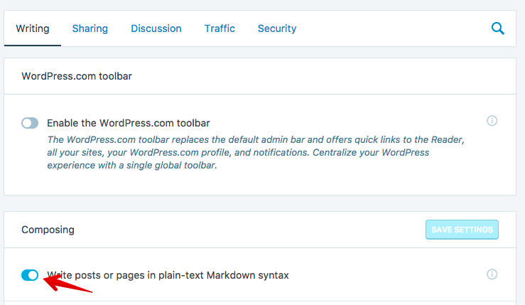 Markdown online editor on Jetpack