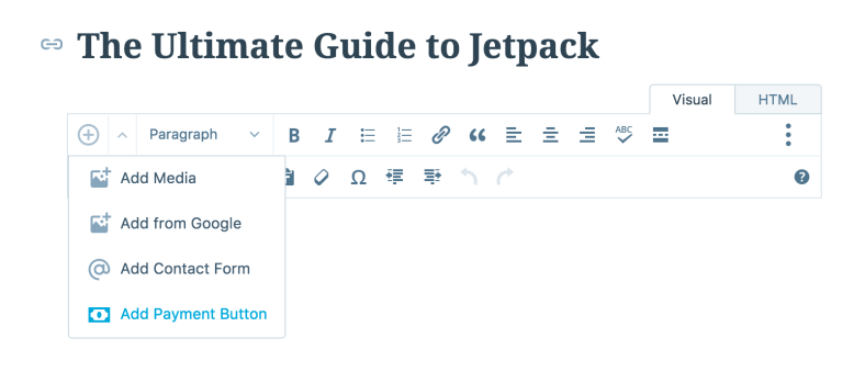 Jetpack PayPal Button