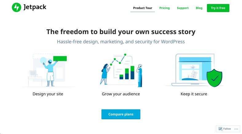 A look at the new Jetpack.com