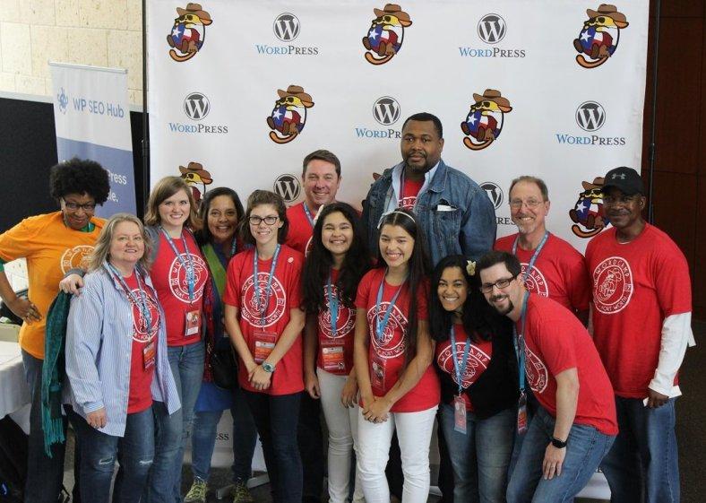 Volunteers at WordCamp Dallas-Fort Worth 2017
