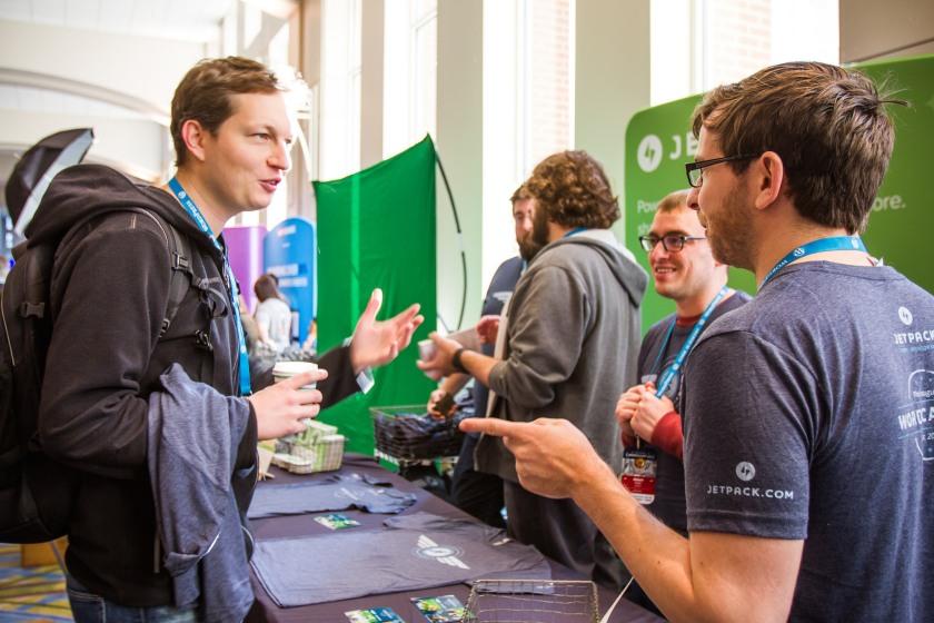Jetpack at WordCamp US 2015. Photo by Sheri Bigelow (https://flic.kr/p/CxRD7W)