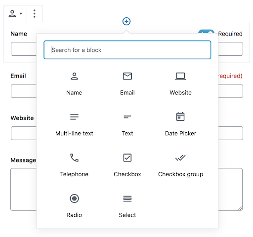 Select where notifications are set with the Contact Form.