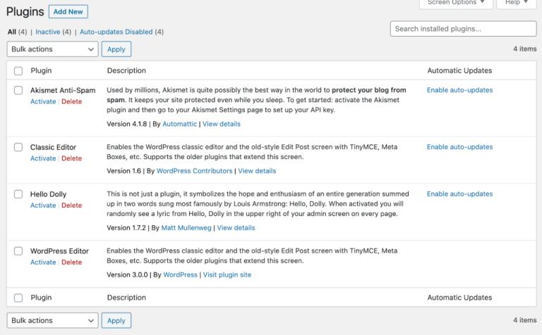 WordPress Editor plugin showing up in WP Admin