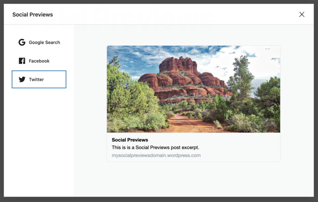 Social previews part of Jetpack SEO tools