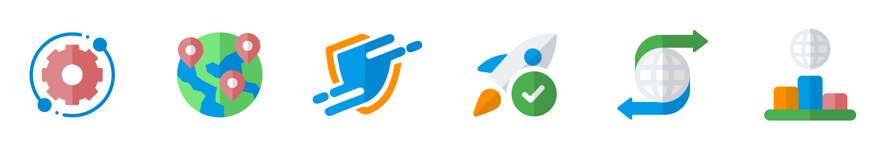 icons representing VPS hosting