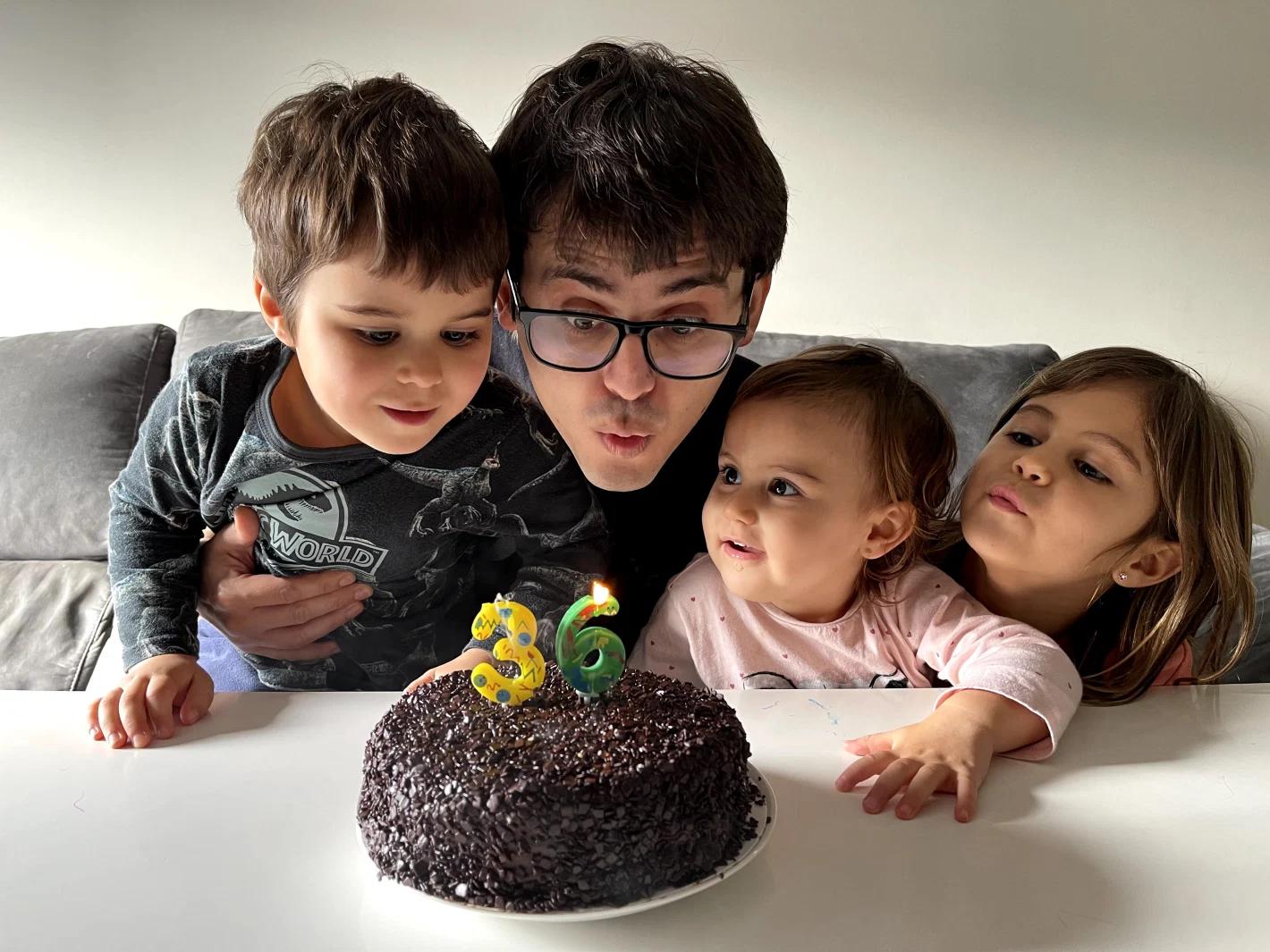 William Viana and family
