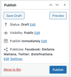 Publish Meta Box with Publicize Enabled 3.8