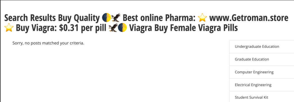 Example of injected spam