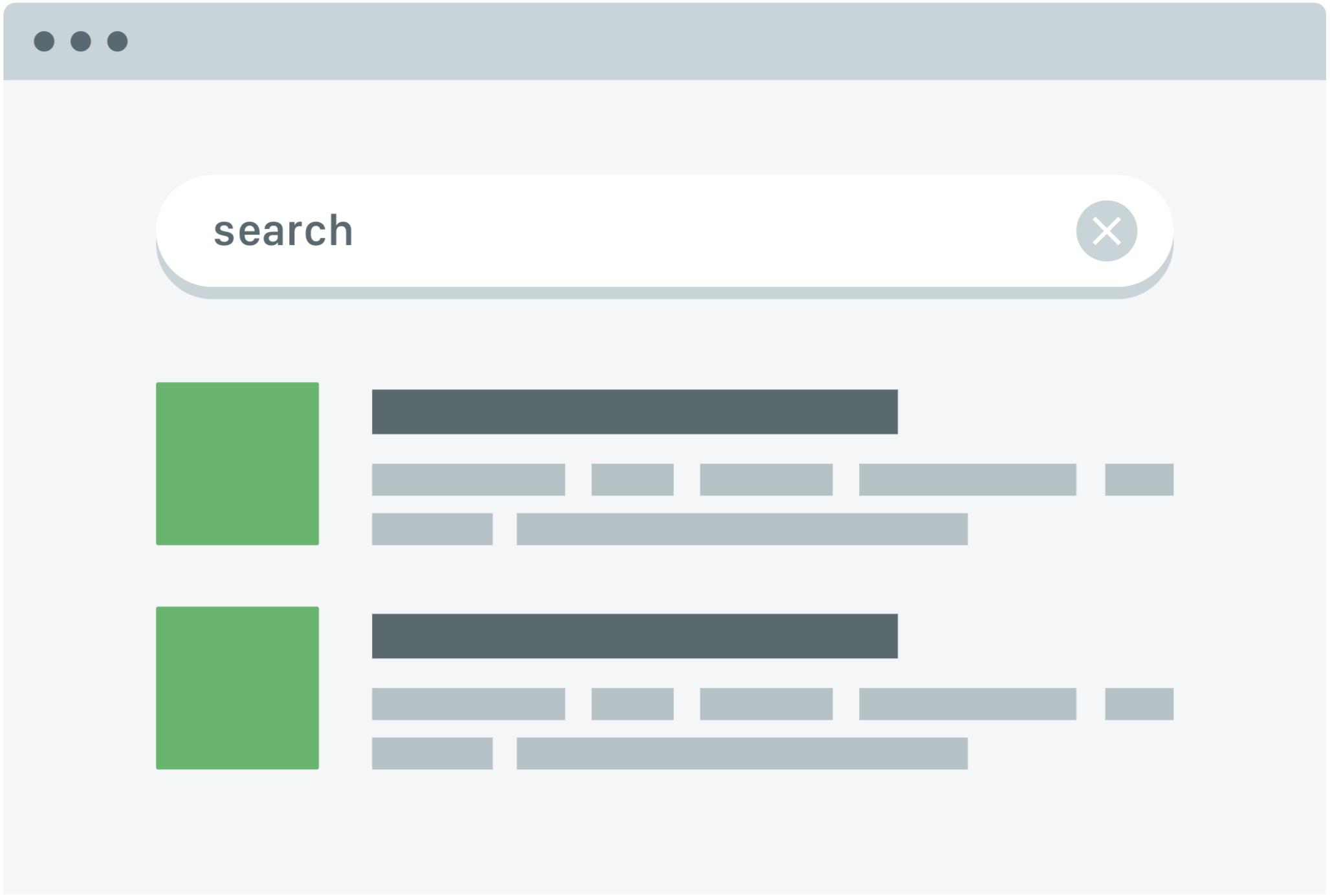 illustration of Jetpack Search